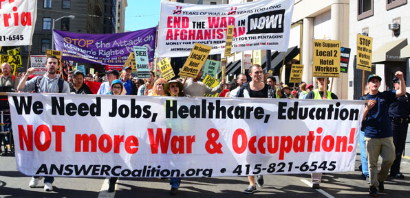 Afghanistan War Anniversary Protest, San Francisco, Oct. 6, 2012