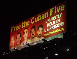 Free the Five billboard, Los Angeles