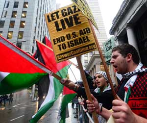 Demonstration for Gaza, November 16, 2012