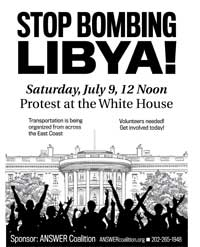 July 9 2011 flyer thumbnail  - Stop the Bombing of Libya