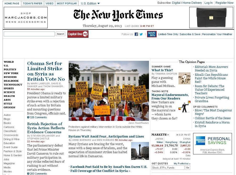 NY Times Syria Demo