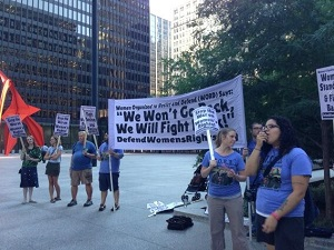 Women's Equality Day speak-out in Chicago