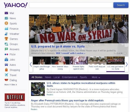 Syria on Yahoo