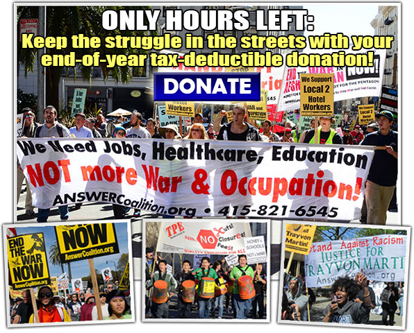 ONLY HOURS LEFT: Keep the struggle in the streets with your end-of-year, tax-deductible donation!