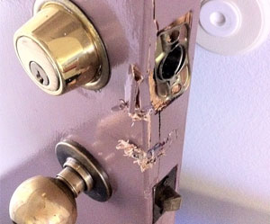 ANSWER LA door knob after break-in