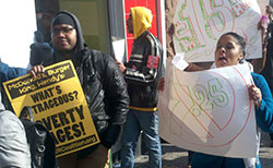 New York fast food workers protest, 2012