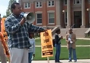 Eugene Puryear at Troy Davis rally, Howard University, 09-16