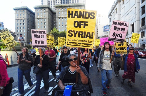 HANDS OFF SYRIA protest