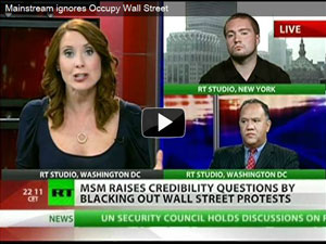 Marcel Cartier on RT speaking about Occupy Wall St, 09/26/11