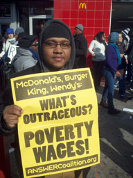 New York City fast-food workers rally, 11-29-2012