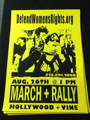 yellow august 26 poster march & rally LA
