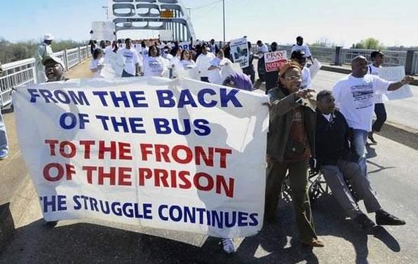 Prisoner rights march