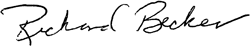 Richard Becker signature