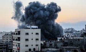 Israeli airstrike in Gaza City 2014