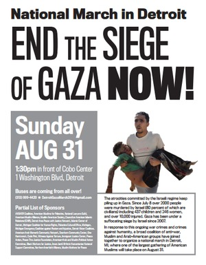 Detroit Gaza demo Aug. 31 2014