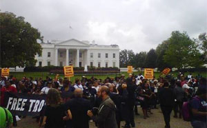 Save Troy Davis rally at White House, 09-21-2011