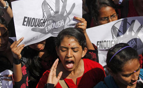 Women protest in Bangalore Jan 4, 2013
